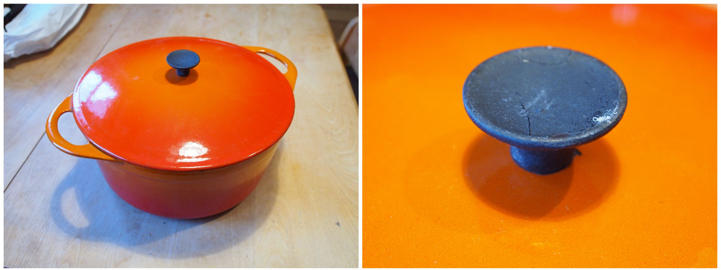 rehabbing a u201cle creuset u201d pot u2013 despite the snow